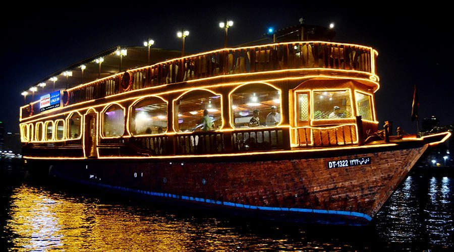 Creek Dhow dinner cruise<br >クリーク ダウ船 ディナー クルーズ